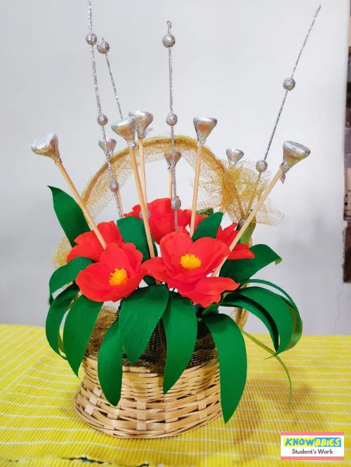 Online Course in Navi Mumbai For Paper Flower Chocolate Bouquet Making Video Course (Pre-Recorded) in Hindi