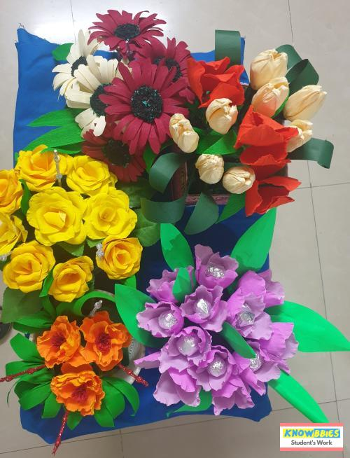 Online Course in Ahmednagar For Paper Flower Chocolate Bouquet Making Video Course (Pre-Recorded) in Hindi