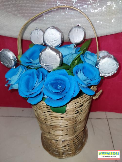 Online Course in Baroda For Paper Flower Chocolate Bouquet Making Video Course (Pre-Recorded) in Hindi